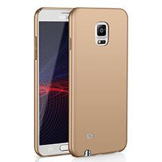 Custodia Plastica Rigida Cover Opaca M02 per Samsung Galaxy Note 4 Duos N9100 Dual SIM Oro