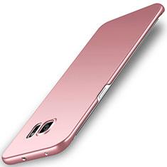 Custodia Plastica Rigida Cover Opaca M02 per Samsung Galaxy S6 Edge SM-G925 Oro Rosa