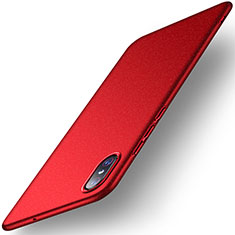 Custodia Plastica Rigida Cover Opaca M02 per Xiaomi Mi 8 Screen Fingerprint Edition Rosso