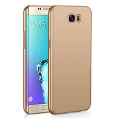 Custodia Plastica Rigida Cover Opaca M03 per Samsung Galaxy S6 Edge SM-G925 Oro