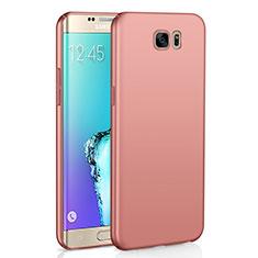 Custodia Plastica Rigida Cover Opaca M03 per Samsung Galaxy S6 Edge SM-G925 Oro Rosa