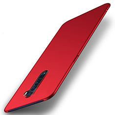 Custodia Plastica Rigida Cover Opaca M05 per Oppo Reno2 Rosso