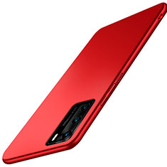 Custodia Plastica Rigida Cover Opaca P02 per Huawei P40 Rosso