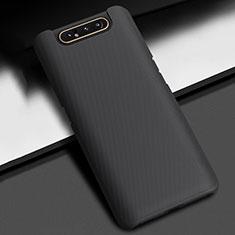 Custodia Plastica Rigida Cover Opaca P02 per Samsung Galaxy A80 Nero