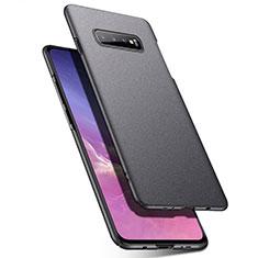 Custodia Plastica Rigida Cover Opaca P02 per Samsung Galaxy S10 Grigio Scuro