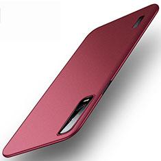 Custodia Plastica Rigida Cover Opaca P03 per Oppo Find X2 Pro Rosso Rosa