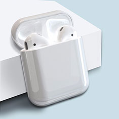 Custodia Plastica Rigida Cover Opaca per AirPods Custodia di Ricarica per Apple AirPods Bianco
