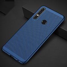 Custodia Plastica Rigida Cover Perforato P01 per Huawei P30 Lite Blu