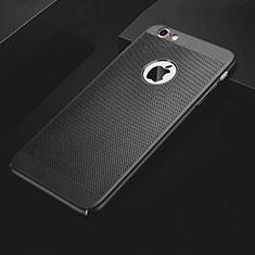 Custodia Plastica Rigida Cover Perforato per Apple iPhone 6 Plus Nero