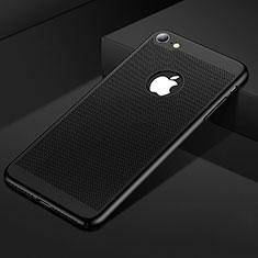 Custodia Plastica Rigida Cover Perforato per Apple iPhone 7 Nero