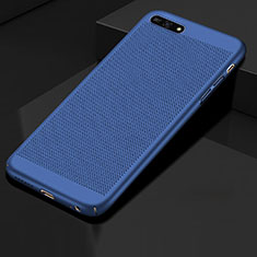 Custodia Plastica Rigida Cover Perforato per Huawei Honor 7A Blu