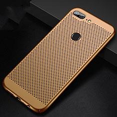 Custodia Plastica Rigida Cover Perforato per Huawei Honor 9 Lite Oro