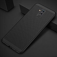 Custodia Plastica Rigida Cover Perforato per Huawei Mate 20 Lite Nero