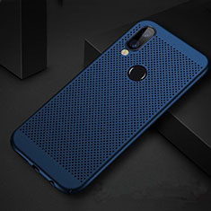 Custodia Plastica Rigida Cover Perforato per Huawei P Smart+ Plus Blu