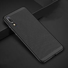 Custodia Plastica Rigida Cover Perforato per Huawei P20 Nero