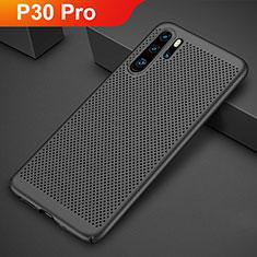Custodia Plastica Rigida Cover Perforato per Huawei P30 Pro Nero
