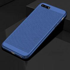 Custodia Plastica Rigida Cover Perforato per Huawei Y6 Prime (2018) Blu