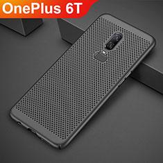 Custodia Plastica Rigida Cover Perforato per OnePlus 6T Nero