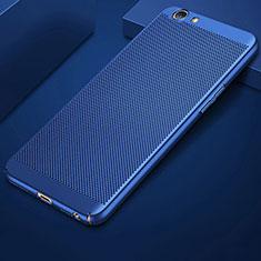 Custodia Plastica Rigida Cover Perforato per Oppo A3 Blu