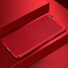 Custodia Plastica Rigida Cover Perforato per Oppo A3 Rosso