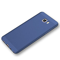 Custodia Plastica Rigida Cover Perforato per Samsung Galaxy C9 Pro C9000 Blu