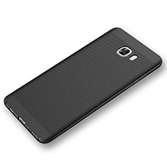 Custodia Plastica Rigida Cover Perforato per Samsung Galaxy C9 Pro C9000 Nero