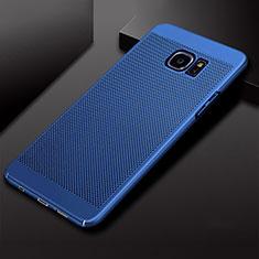 Custodia Plastica Rigida Cover Perforato per Samsung Galaxy S7 Edge G935F Blu