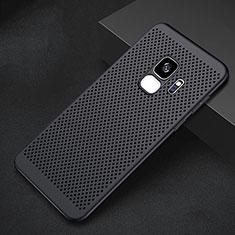 Custodia Plastica Rigida Cover Perforato per Samsung Galaxy S9 Nero