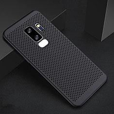 Custodia Plastica Rigida Cover Perforato per Samsung Galaxy S9 Plus Nero
