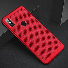 Custodia Plastica Rigida Cover Perforato per Xiaomi Mi 6X Rosso