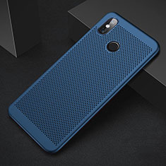 Custodia Plastica Rigida Cover Perforato per Xiaomi Mi 8 Blu