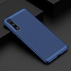 Custodia Plastica Rigida Cover Perforato W01 per Samsung Galaxy A70 Blu