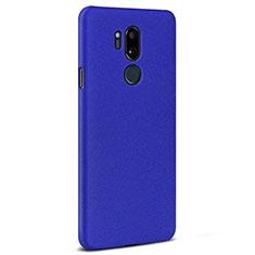 Custodia Plastica Rigida Cover Sabbie Mobili per LG G7 Blu
