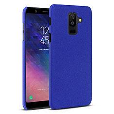 Custodia Plastica Rigida Cover Sabbie Mobili per Samsung Galaxy A6 Plus (2018) Blu