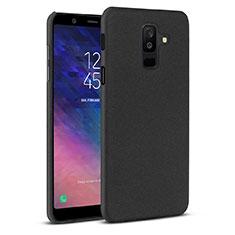 Custodia Plastica Rigida Cover Sabbie Mobili per Samsung Galaxy A6 Plus (2018) Nero