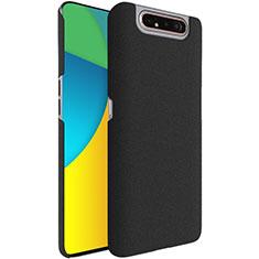 Custodia Plastica Rigida Cover Sabbie Mobili per Samsung Galaxy A80 Nero