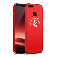 Custodia Plastica Rigida Fiori per OnePlus 5T A5010 Rosso