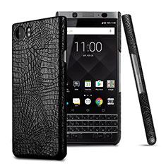 Custodia Plastica Rigida In Pelle per Blackberry KEYone Nero