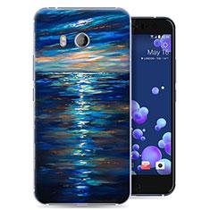 Custodia Plastica Rigida Oceano per HTC U11 Blu