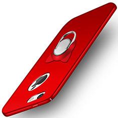 Custodia Plastica Rigida Opaca con Anello Supporto A01 per Apple iPhone 5S Rosso