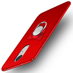 Custodia Plastica Rigida Opaca con Anello Supporto A02 per Huawei Enjoy 6 Rosso