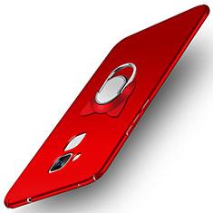 Custodia Plastica Rigida Opaca con Anello Supporto A02 per Huawei GR5 Mini Rosso