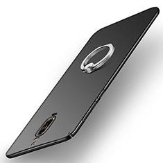 Custodia Plastica Rigida Opaca con Anello Supporto A02 per Huawei Mate 9 Pro Nero