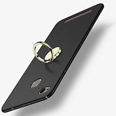 Custodia Plastica Rigida Opaca con Anello Supporto A02 per Xiaomi Redmi 3 Pro Nero