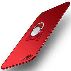 Custodia Plastica Rigida Opaca con Anello Supporto A03 per Huawei Honor V10 Rosso