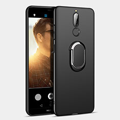 Custodia Plastica Rigida Opaca con Anello Supporto A03 per Huawei Maimang 6 Nero