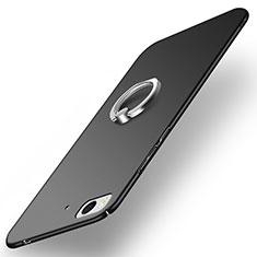 Custodia Plastica Rigida Opaca con Anello Supporto A03 per Xiaomi Mi 5S Nero