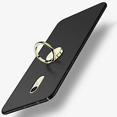 Custodia Plastica Rigida Opaca con Anello Supporto A03 per Xiaomi Redmi Note 4X High Edition Nero