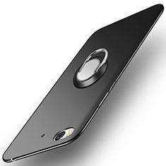 Custodia Plastica Rigida Opaca con Anello Supporto A04 per Xiaomi Mi 5S Nero