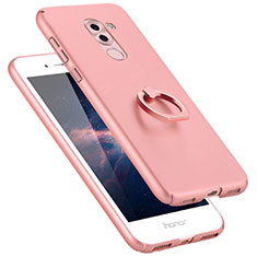 Custodia Plastica Rigida Opaca con Anello Supporto A06 per Huawei Mate 9 Lite Rosa